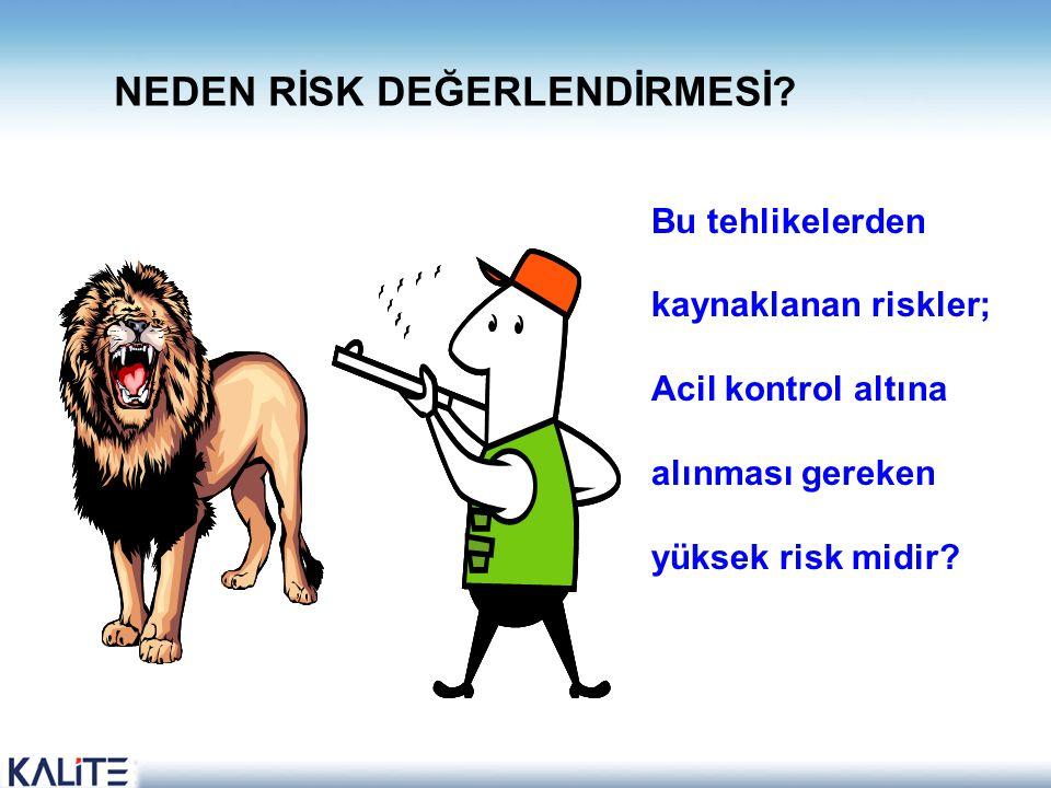 Bu tehlikelerden kaynaklanan riskler; Acil kontrol altına alınması gereken yüksek risk midir?? c