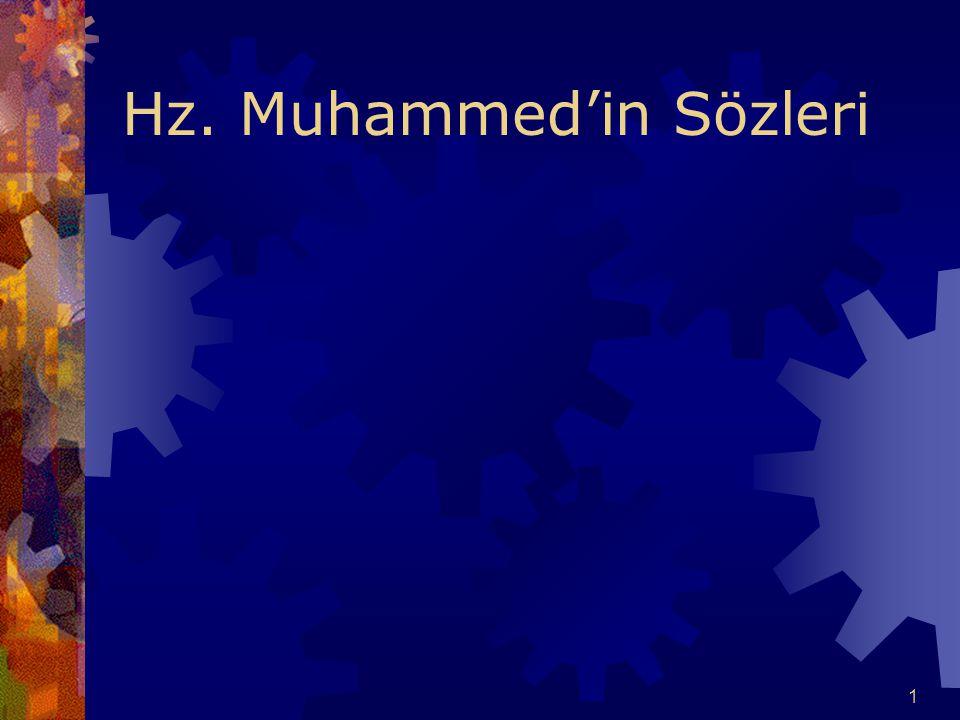 1 Hz. Muhammed'in Sözleri