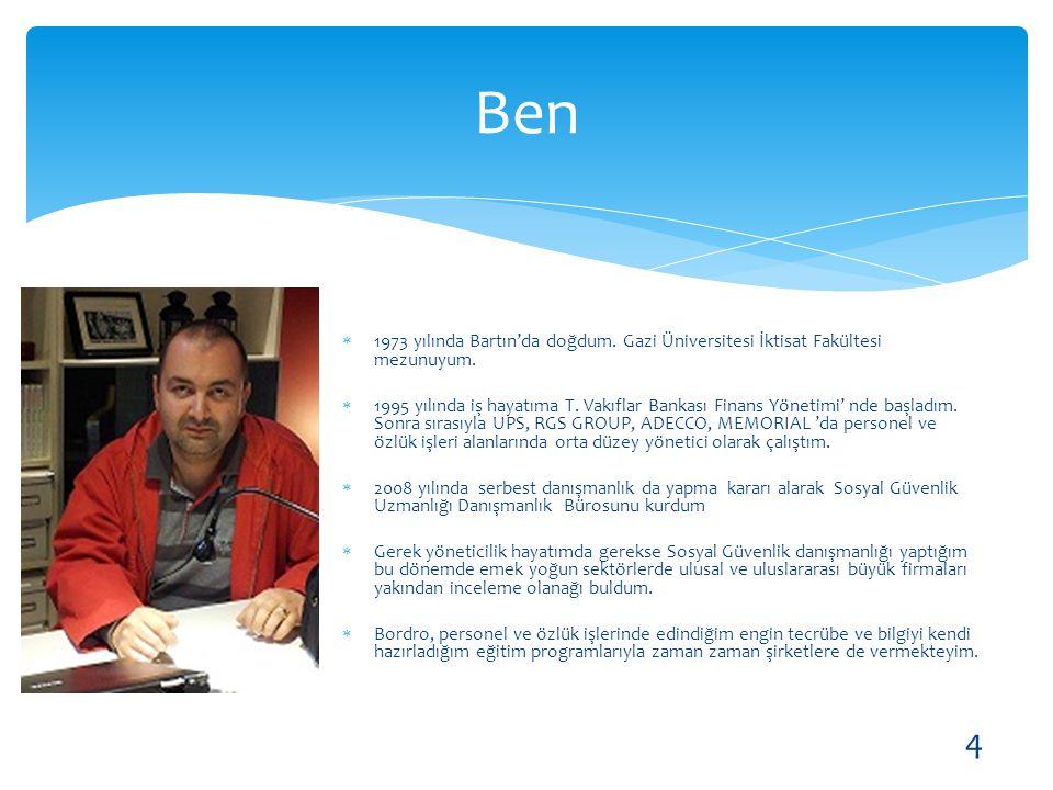  1973 yılında Bartın'da doğdum. Gazi Üniversitesi İktisat Fakültesi mezunuyum.  1995 yılında iş hayatıma T. Vakıflar Bankası Finans Yönetimi' nde ba