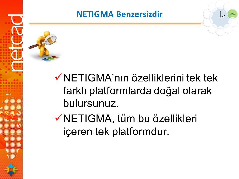 NETIGMA Benzersizdir  NETIGMA'nın özelliklerini tek tek farklı platformlarda doğal olarak bulursunuz.