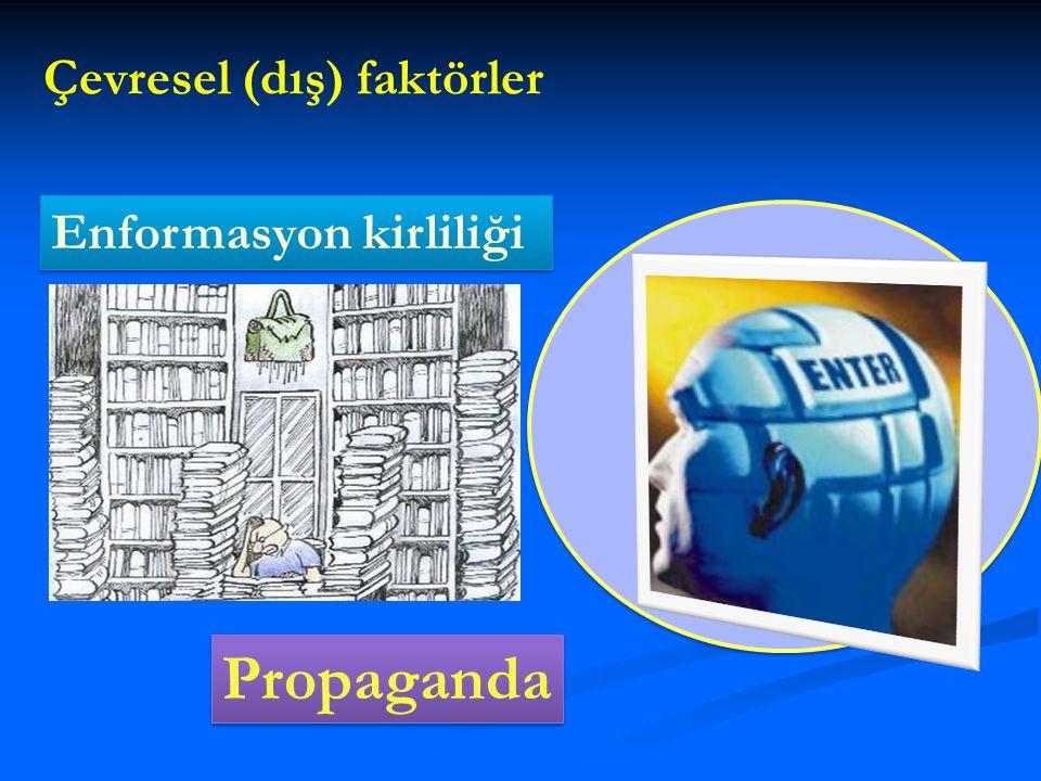 Çevresel (dış) faktörler Propaganda Enformasyon kirliliği