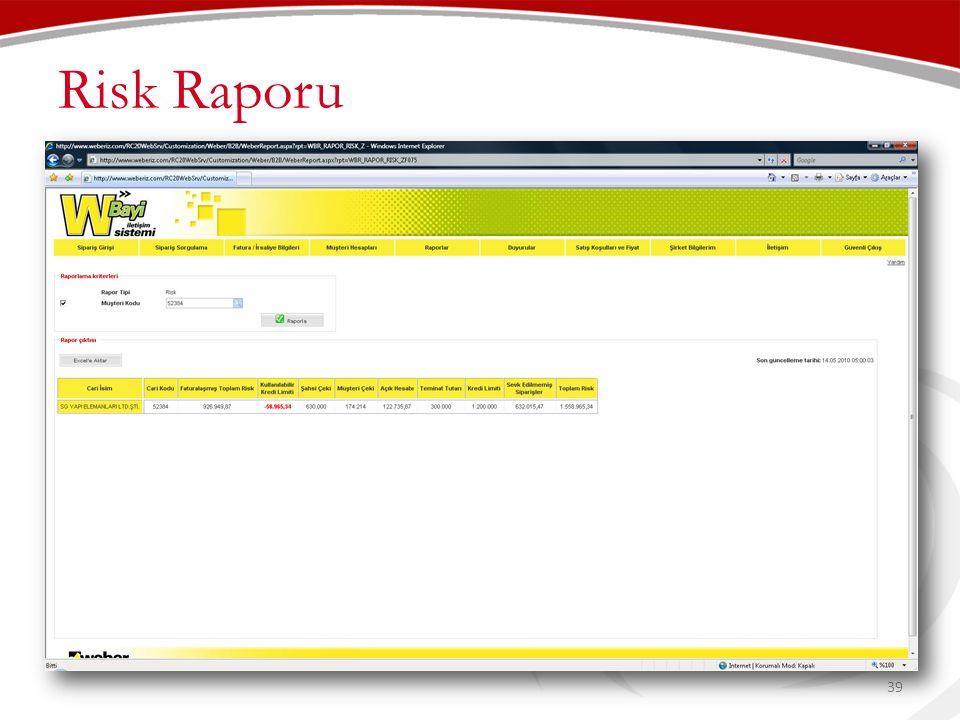 Risk Raporu 39