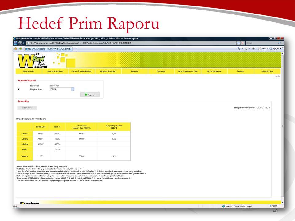 Hedef Prim Raporu 48