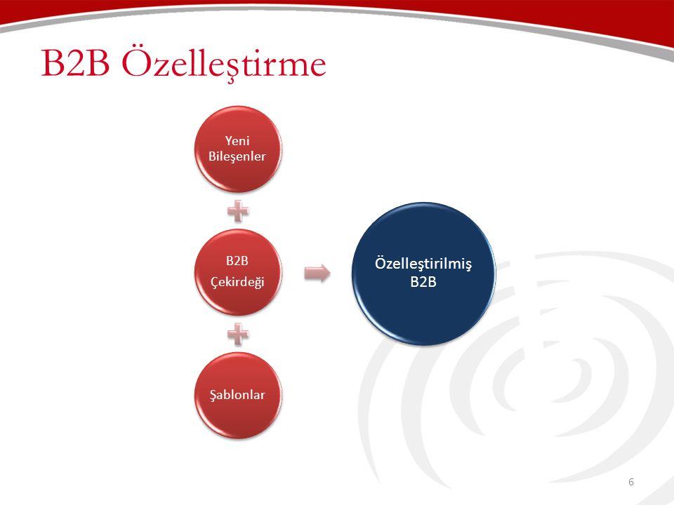B2B Özelleştirme 6 B2B Portal Yeni Bileşenler B2B Çekirdeği Şablonlar Özelleştirilmiş B2B