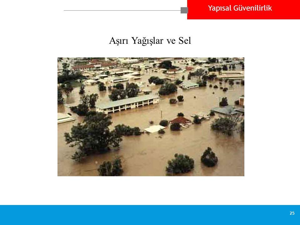 Yapısal Güvenilirlik 25 Aşırı Yağışlar ve Sel