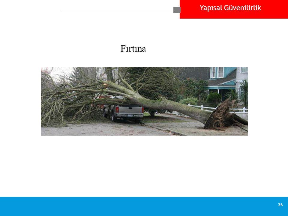 Yapısal Güvenilirlik 26 Fırtına