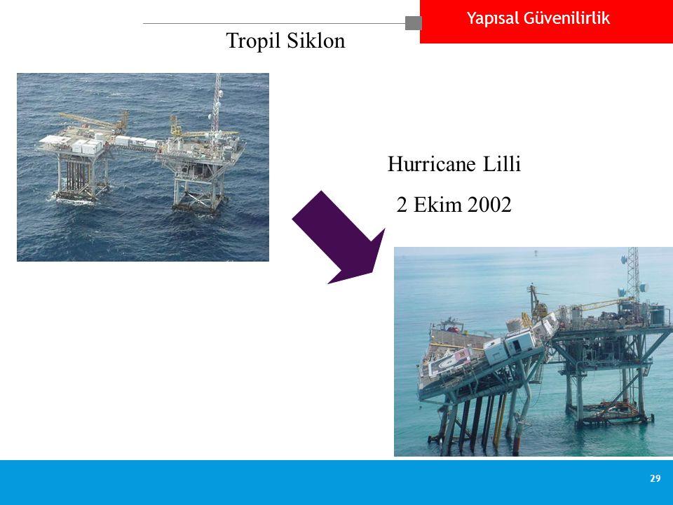 Yapısal Güvenilirlik 29 Hurricane Lilli 2 Ekim 2002 Tropil Siklon