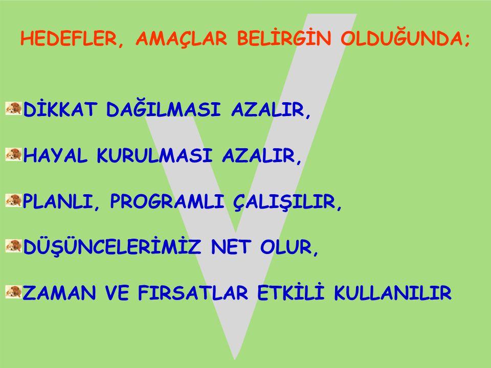 PLANSIZ, PROGRAMSIZ, SİSTEMSİZ, UMUTSUZ ÇALIŞMA!!.