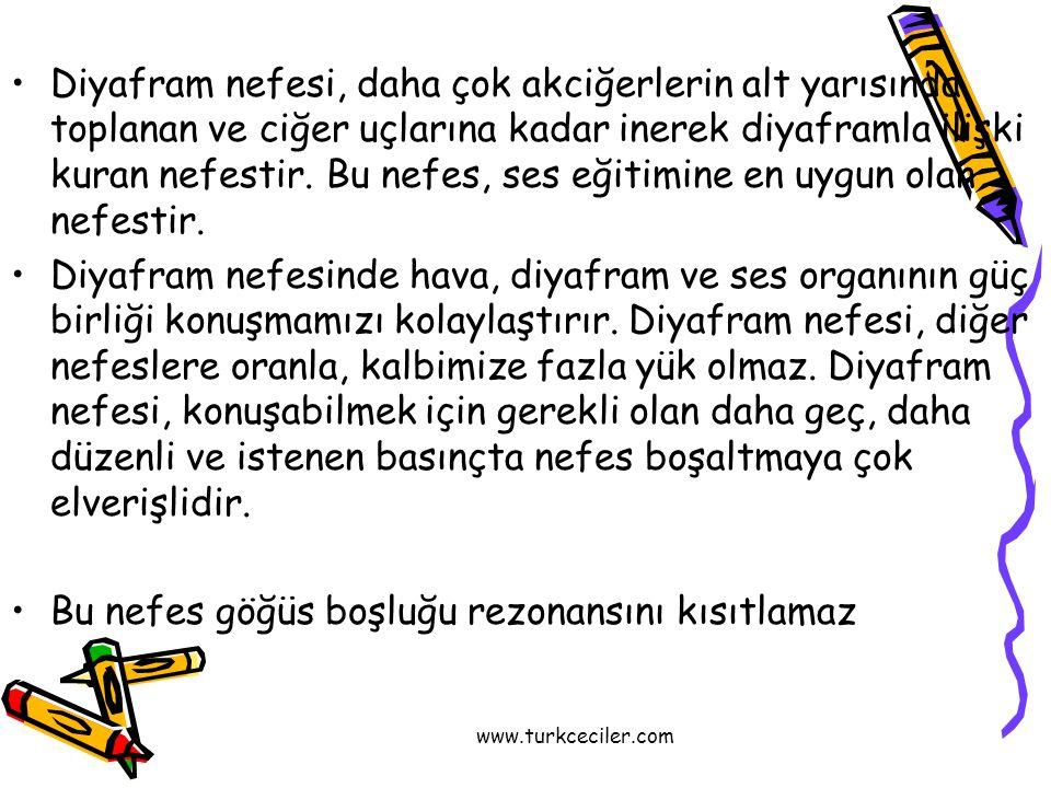 www.turkceciler.com •Sağlıklı bir ses için kulağın da sağlam olması gerekir.