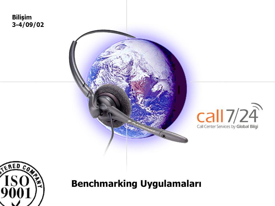 Global –Bilgi Pazarlama ve Çağrı servisi Hizmetleri A.Ş. Benchmarking Uygulamaları Bilişim 3-4/09/02