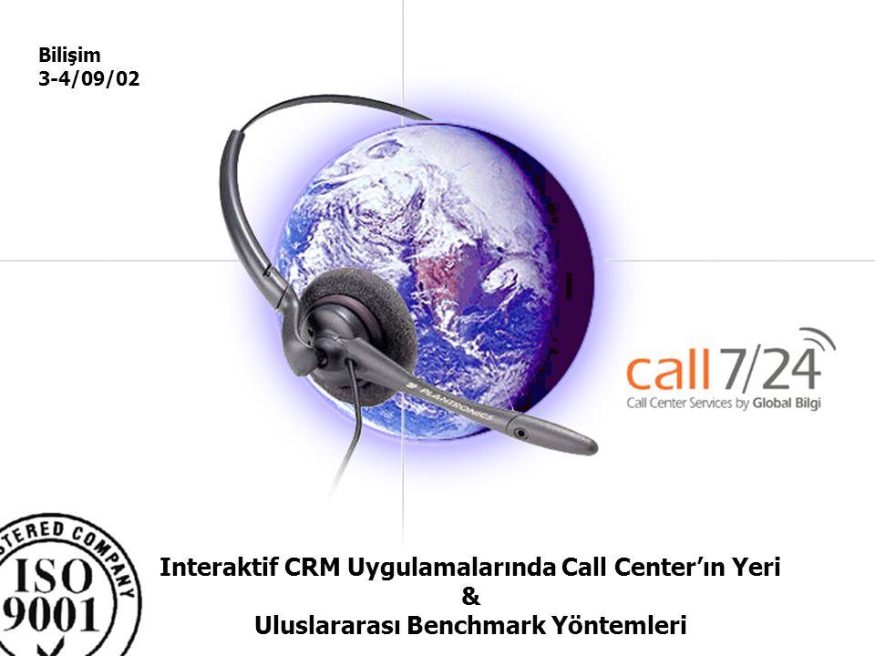 Global –Bilgi Pazarlama ve Çağrı servisi Hizmetleri A.Ş. Interaktif CRM Uygulamalarında Call Center'ın Yeri & Uluslararası Benchmark Yöntemleri Bilişi