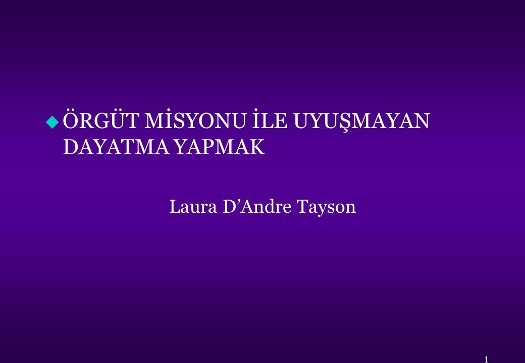 u ÖRGÜT MİSYONU İLE UYUŞMAYAN DAYATMA YAPMAK Laura D'Andre Tayson 1