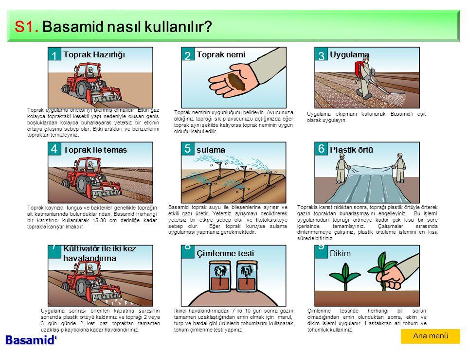 S1.Basamid nasıl kullanılır.