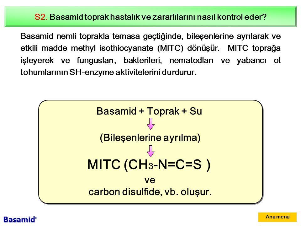 S2.Basamid toprak hastalık ve zararlılarını nasıl kontrol eder.