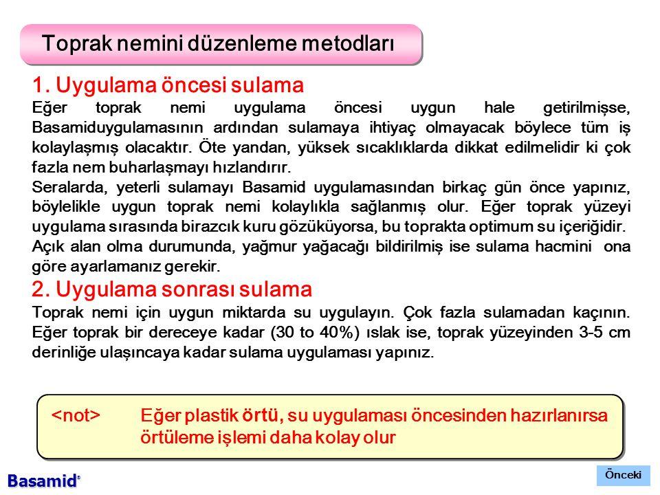 Toprak nemini düzenleme metodları 1.