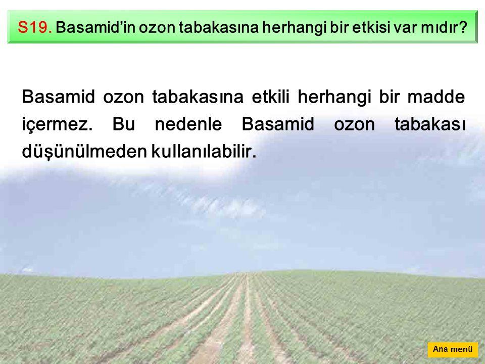 S19.Basamid'in ozon tabakasına herhangi bir etkisi var mıdır.