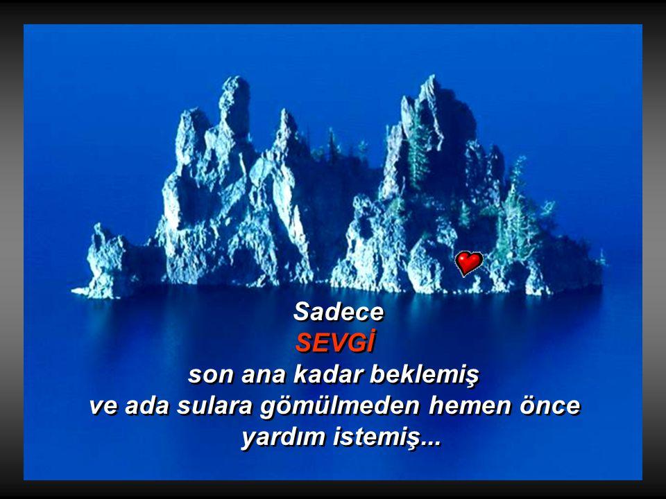 Bunun üzerine herkes adayı terk etmiş..... Bunun üzerine herkes adayı terk etmiş..... Günlerden bir gün TÜM DUYGULARA adanın batacağı bildirilmiş.....