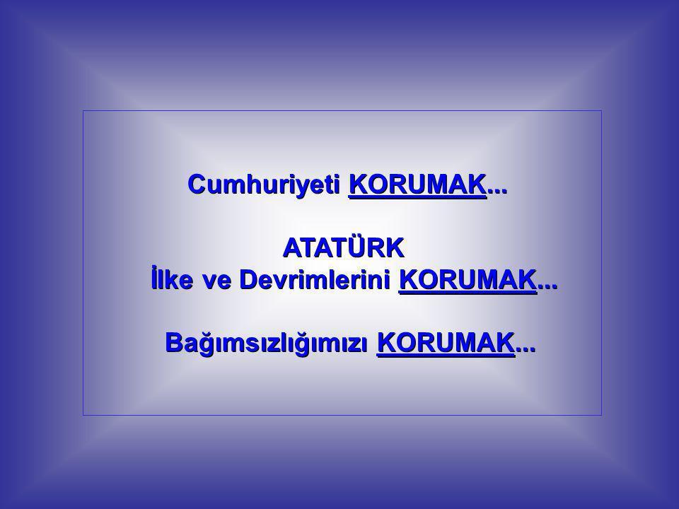 KORUMAK sözcüğünün Türk Dil Kurumu sözlüğündeki anlamına baktım.