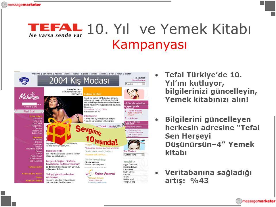 Tefal 10.Yıl ve Yemek Kitabı Kampanyası •Tefal Türkiye'de 10.
