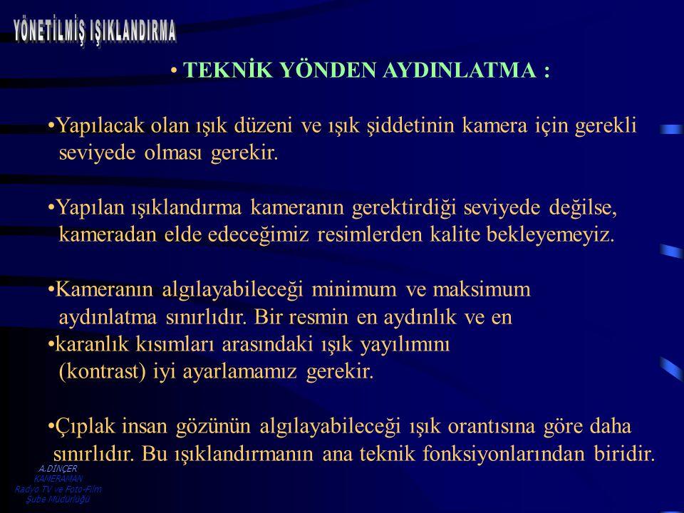 A.DİNÇER KAMERAMAN Radyo TV ve Foto-Film Şube Müdürlüğü IŞIKLANDIRMA ÖRNEĞİ - 2