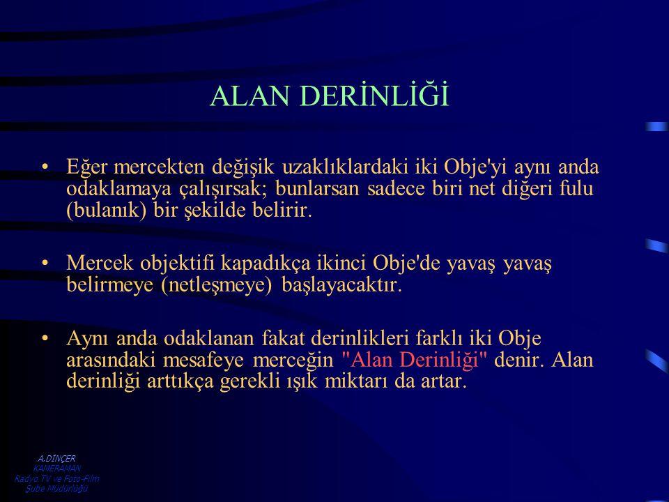 A.DİNÇER KAMERAMAN Radyo TV ve Foto-Film Şube Müdürlüğü İKİLİ ÇEKİM