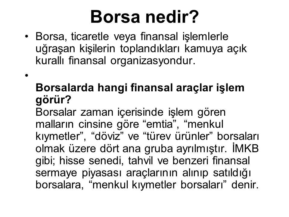 Menkul Kıymetler Borsalarının fonksiyonları nelerdir.