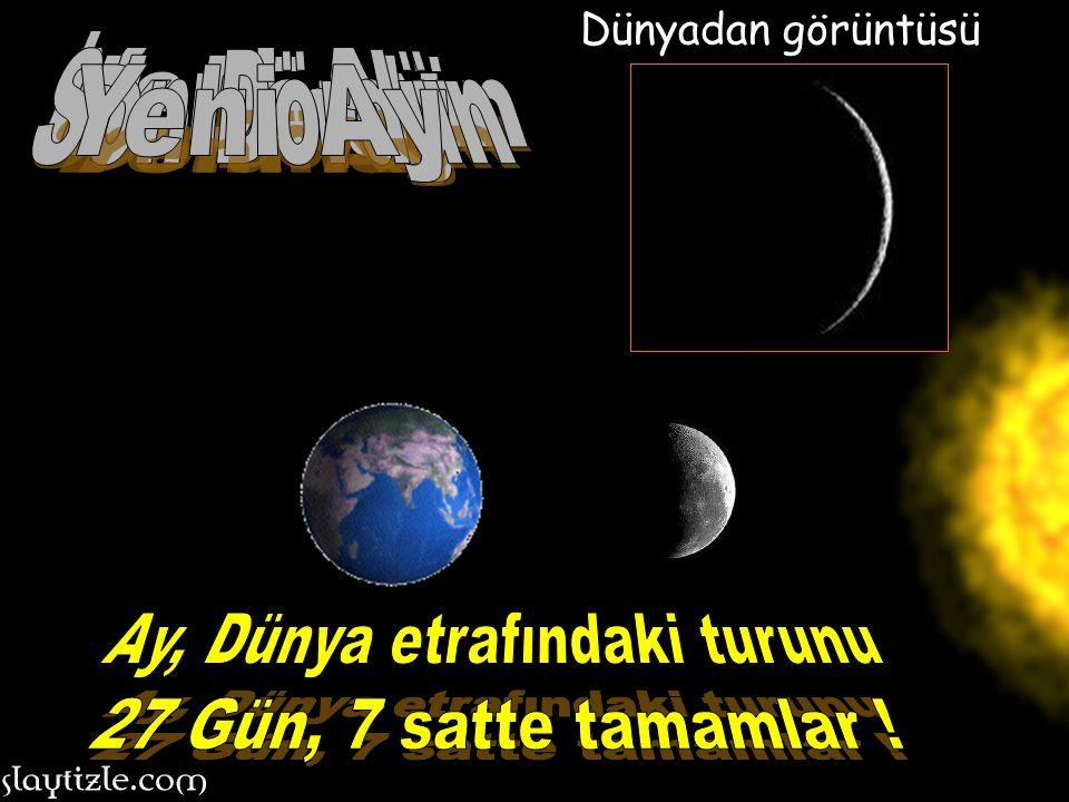 Ay'ın Dünya'mız etrafında dönmesi ile nasıl şekilden şekle girdiğini tek ekranda izleyelim mi? Ay'ın Dünya'mız etrafında dönmesi ile nasıl şekilden şe