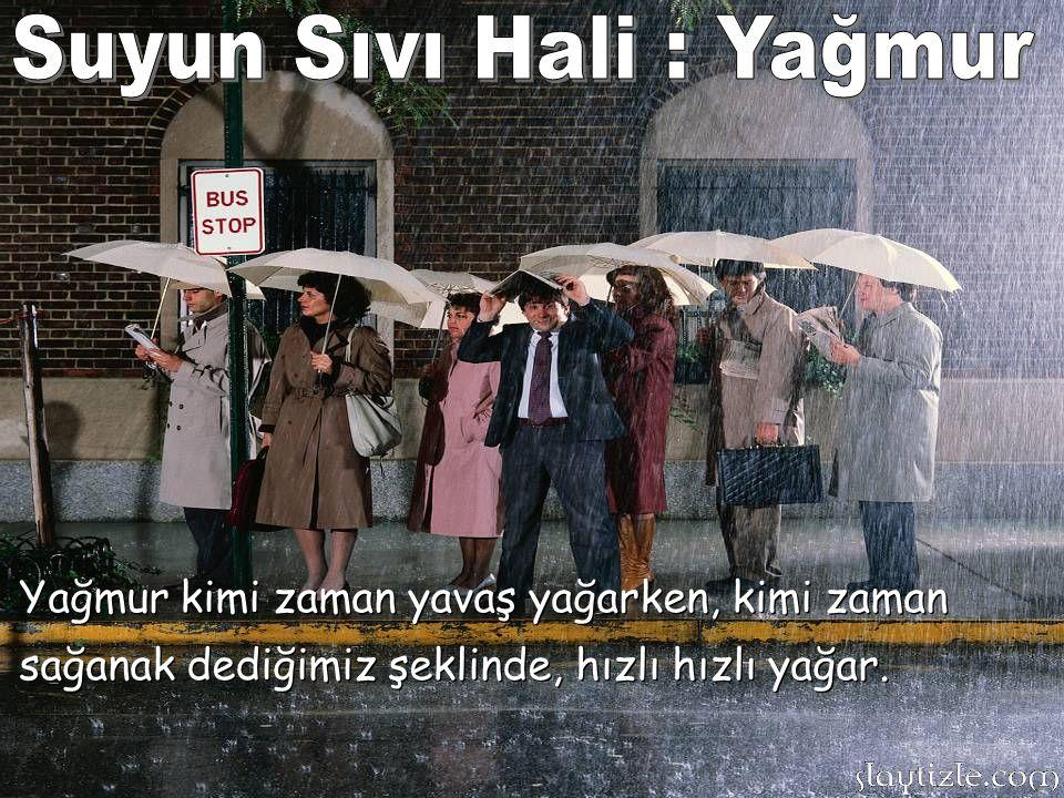 Yağmur kimi zaman yavaş yağarken, kimi zaman sağanak dediğimiz şeklinde, hızlı hızlı yağar.