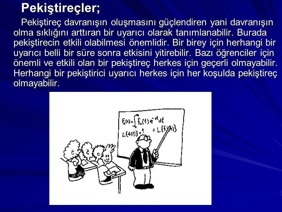 Davranışçı Yaklaşımın Sınıf Ortamında Uygulanması 1.