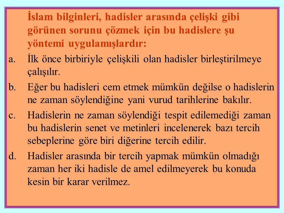 3.Fıkhu'l- Hadis Hadis ve sünneti doğru anlayarak Hz.