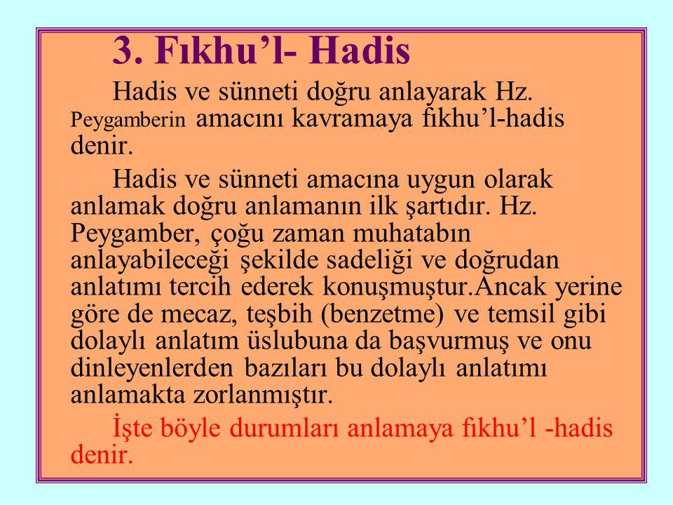 4.Esbâbu Vurudi'l-Hadis Hz.