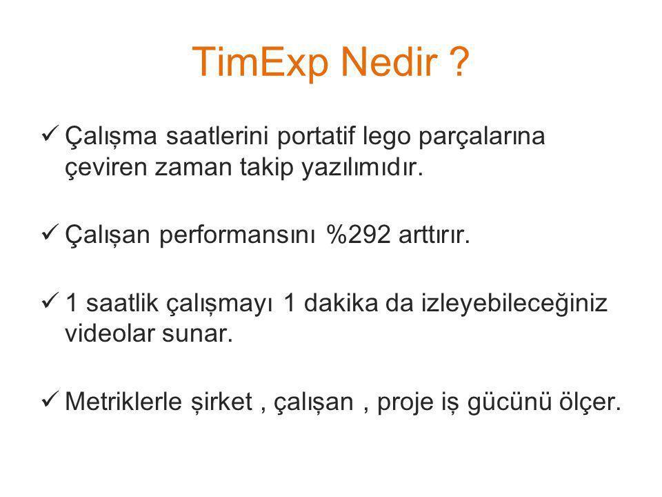 TimExp Nedir . Çalışma saatlerini portatif lego parçalarına çeviren zaman takip yazılımıdır.