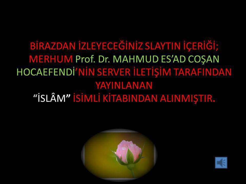 BİRAZDAN İZLEYECEĞİNİZ SLAYTIN İÇERİĞİ; MERHUM Prof.