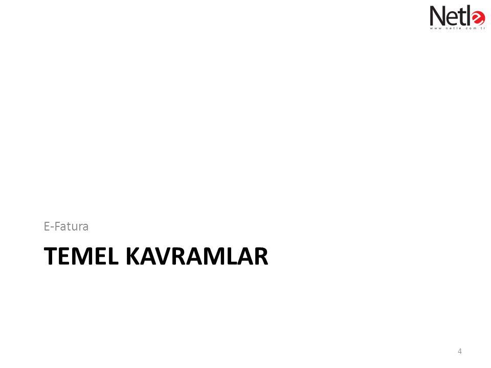 TEMEL KAVRAMLAR E-Fatura 4