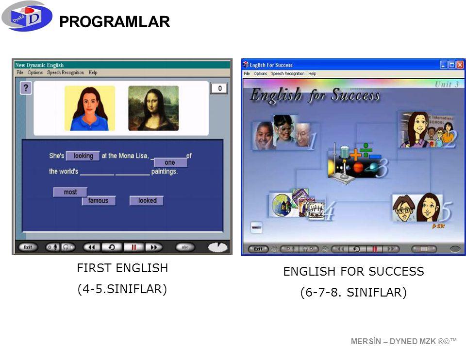 PROGRAMLAR ENGLISH FOR SUCCESS (6-7-8.