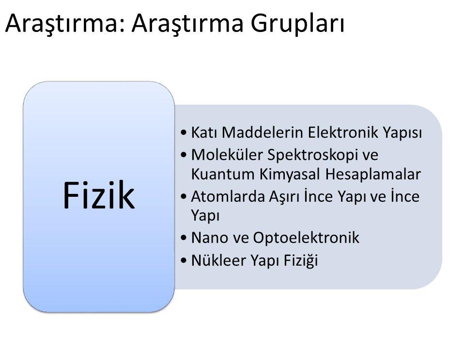 Araştırma: Araştırma Grupları •Grup Teorisi •Dinamik Sistemler •Optimizasyon •Harmonik Analiz •Operatör Teorisi •Sayılar Teorisi •Uygulamalı Matematik Matematik