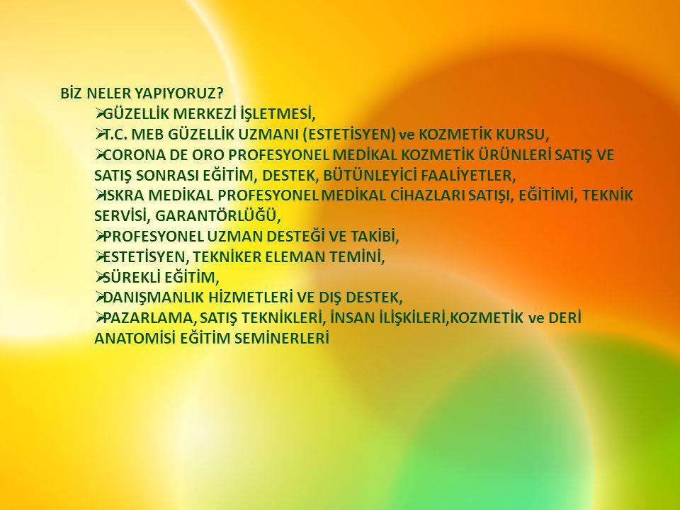 BİZ NELER YAPIYORUZ. GÜZELLİK MERKEZİ İŞLETMESİ,  T.C.