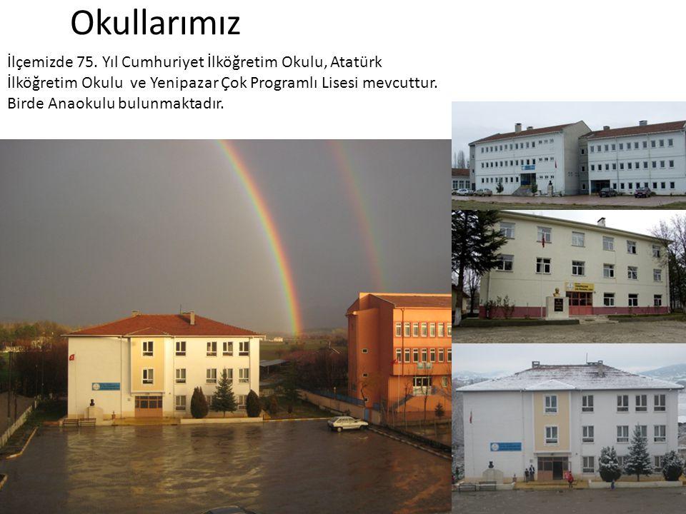Okullarımız İlçemizde 75. Yıl Cumhuriyet İlköğretim Okulu, Atatürk İlköğretim Okulu ve Yenipazar Çok Programlı Lisesi mevcuttur. Birde Anaokulu bulunm