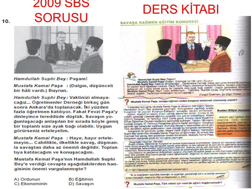 2009 SBS SORUSU DERS KİTABI