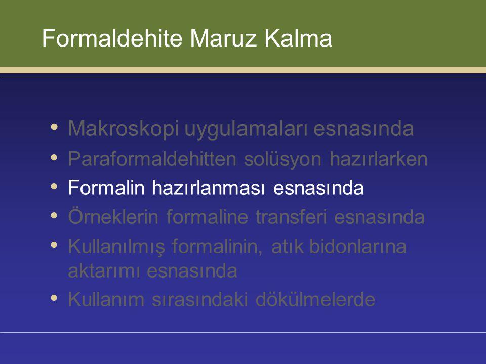 Çözümler • Tamponlu formalinin kullanıma hazır formda alınması • Tamponlu formalinin, otomasyon sistemleri ile hazırlanması