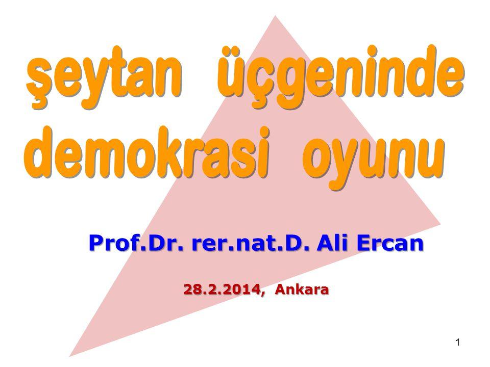 1 Prof.Dr. rer.nat.D. Ali Ercan 28.2.2014, Ankara