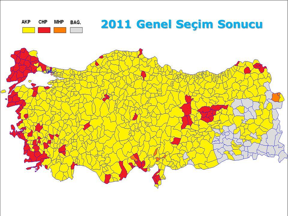 48 2011 Genel Seçim Sonucu