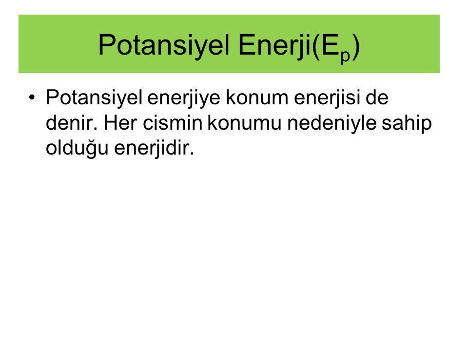 (DURGUN ENERJİ) Potansiyel Enerji(E p )