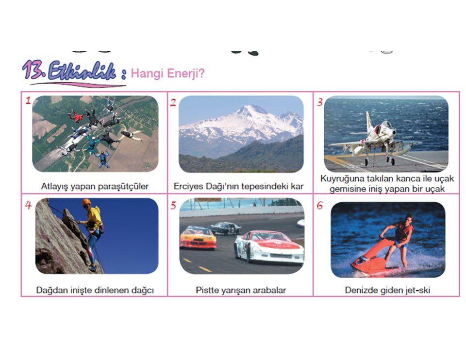 Not: 1.Cisimlerin yüksekliklerinden dolayı depoladıkları enerjiye çekim potansiyel enerjisi denir. 2.Esnek cisimlerin sıkışma ve gerilmesi sonucunda s