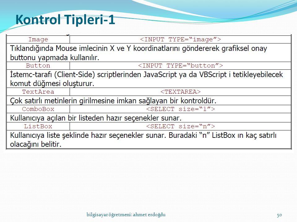 Kontrol Tipleri-1 bilgisayar öğretmeni: ahmet erdoğdu50