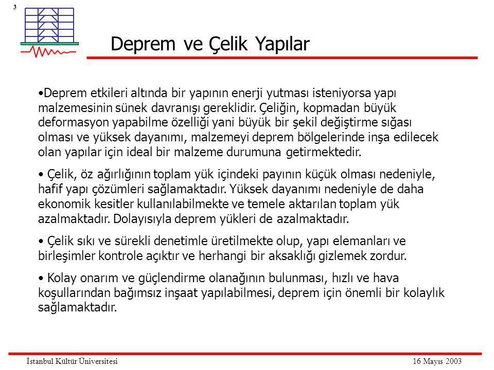 4 16 Mayıs 2003İstanbul Kültür Üniversitesi •Çelik esas itibariyle bir demir + karbon alaşımdır.