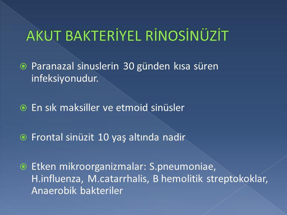  Tonsiller ve farinkste hiperemi  Tonsiller hipertrofi  Faringeal eksudasyon  Ön servikal ağrılı ve duyarlı LAP  Palatal peteşi  Uvulada inflamasyon  Bazen kızıl döküntüsü  Semptomlarda 3-5 günde spontan düzelme