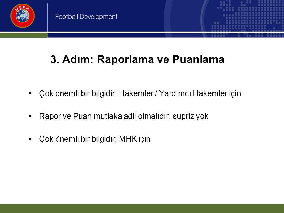 Rapor 2.Bölüm. Oyun kurallarının uygulanması vb.