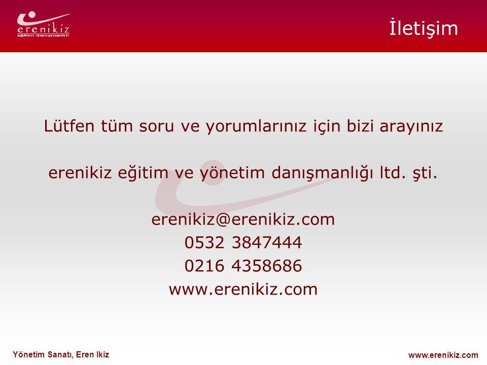 www.erenikiz.com Yönetim Sanatı, Eren Ikiz İletişim Lütfen tüm soru ve yorumlarınız için bizi arayınız erenikiz eğitim ve yönetim danışmanlığı ltd. şt