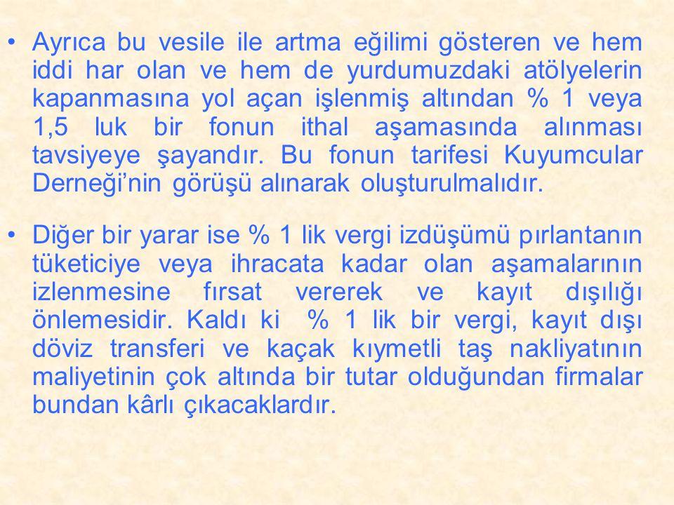 •Burada önemli olan husus borsanın beraberinde getireceği ; •(1) Elmas taş kesme ve işleme tekniğinin Türkler tarafından öğrenilmesidir.